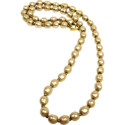 """Vintage Miriam Haskell Faux Baroque Pearl Necklace - 26"""" Long"""
