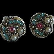 Vintage Rhinestone Earrings -