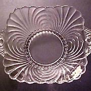 Vintage Elegant Cambridge Glass - Caprice Pattern Dish with Handles