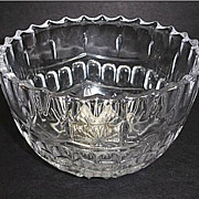 "Vintage Crystal Glass Bowl - 6"" Across"