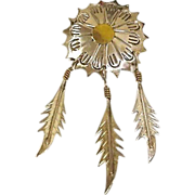Vintage TAXCO Jewelry - MEXICO Sterling Silver Brooch - 3 Dangling Sterling Feat
