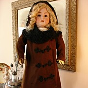 Fabulous Antique French Coat, Bonnet and Shoes for Bebe!