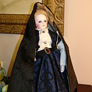 Fabulous Antique Velvet French Fashion Hooded Cape