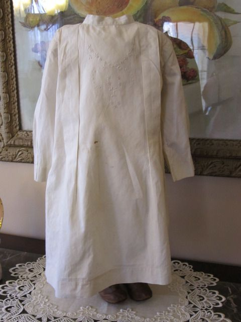 Sweet Ivory Muslin Dress for Large Doll