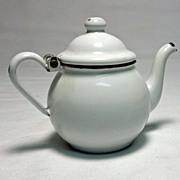 Old Enamelware Individual Teapot or Child's Teapot