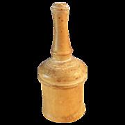 Victorian Glove Powder Shaker Wood