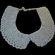 Faux Pearl Collar