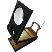 Late 19th Century Black Ebonised Stereoscope