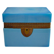 "Gorgeous  Antique French Opaline Casket  ""Fancy Bronze Mounts"""