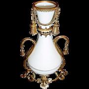 Antique  Baccarat White Opaline Vase