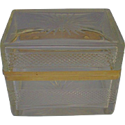 Antique French Cut Crystal Hinged Box
