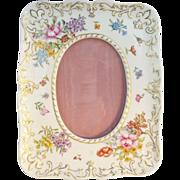 """Exquisite 8 ½"""" Antique French Porcelain Easel Back Frame"""