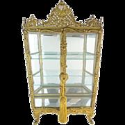 "18"" Antique French Miniature Vitrine Curio Cabinet ""MAGNIFICENT"""