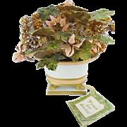 "Jane Hutcheson Enamel Flower Arrangement ""Paw Foot"" Original TAG"