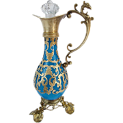 "Palais Royal Blue Opaline Perfume Ewer "" Magnificent Gilt Ormolu"""