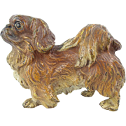 "Antique Austrian Cold Painted Bronze Pekingese Dog ""Stamped : AUSTRIA"""