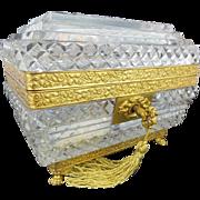 "Magnificent Antique Baccarat Crystal Casket ""GRANDEST RARE SHAPE"""