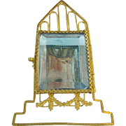 """Antique French  Watch holder""""BLUE GLASS HOUSE"""""""
