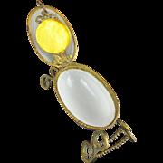 "Palais Royal Opaline Watch Holder Hinged Box ""EGG  SHAPE"""
