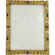 "Antique Jeweled Table Top Frame ""MAGNIFICENT"""