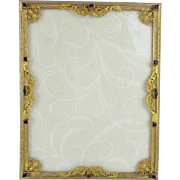 Beautiful Antique Jeweled  Table Top Frame