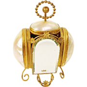 "Glorious Palais Royal Mother of Pearl Scent Casket "" TWO SCENT BOTTLES"""