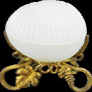 """Palais Royal Baccarat White Opaline Box """"BEAUTIFUL"""""""