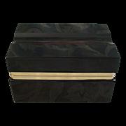 """Murano RUBY Hinged Box  """"RARE SHAPE"""""""