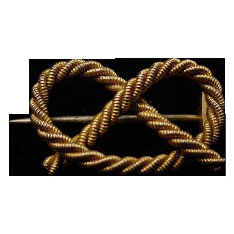 Antique 9Karat Gold Knot Broach