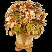 BIG! BEAUTIFUL Jan Hutcheson Enamel Flower Arrangement