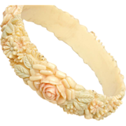 Japan Signed Celluloid Bangle Bracelet