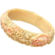 "Pastel Celluloid Bangle Bracelet - 3/4"" Wide"
