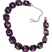 Leach & Miller Sterling and Purple Stone Bracelet