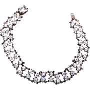 Sterling and Bezel Set Crystal Bracelet - Beautiful!