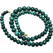 Green Malachite Beaded Necklace