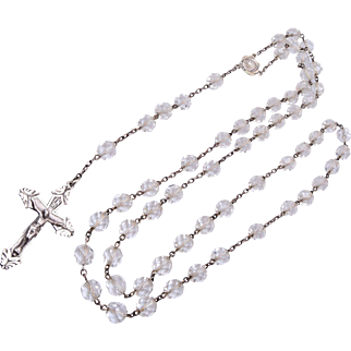 SALE Sterling Silver Rosary