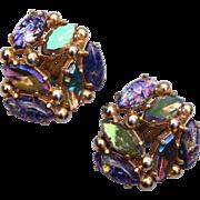 Schiaparelli Foil Glass Earrings