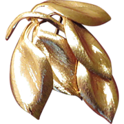 Henkel Grosse Leaves Brooch - 1960