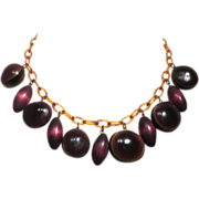 Interesting Celluloid and Nut Necklace