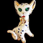 Trifari Pet Series Cat Brooch - 1967
