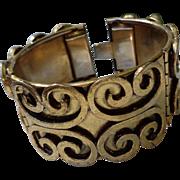 Vintage Oscar Charlin Hinged Bracelet