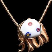 Eisenberg Millefiori Elephant Necklace