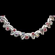 Pink Rhinestones Necklace
