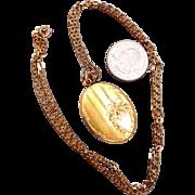 JMH & Co Pin Stripe Locket  - Gold Filled