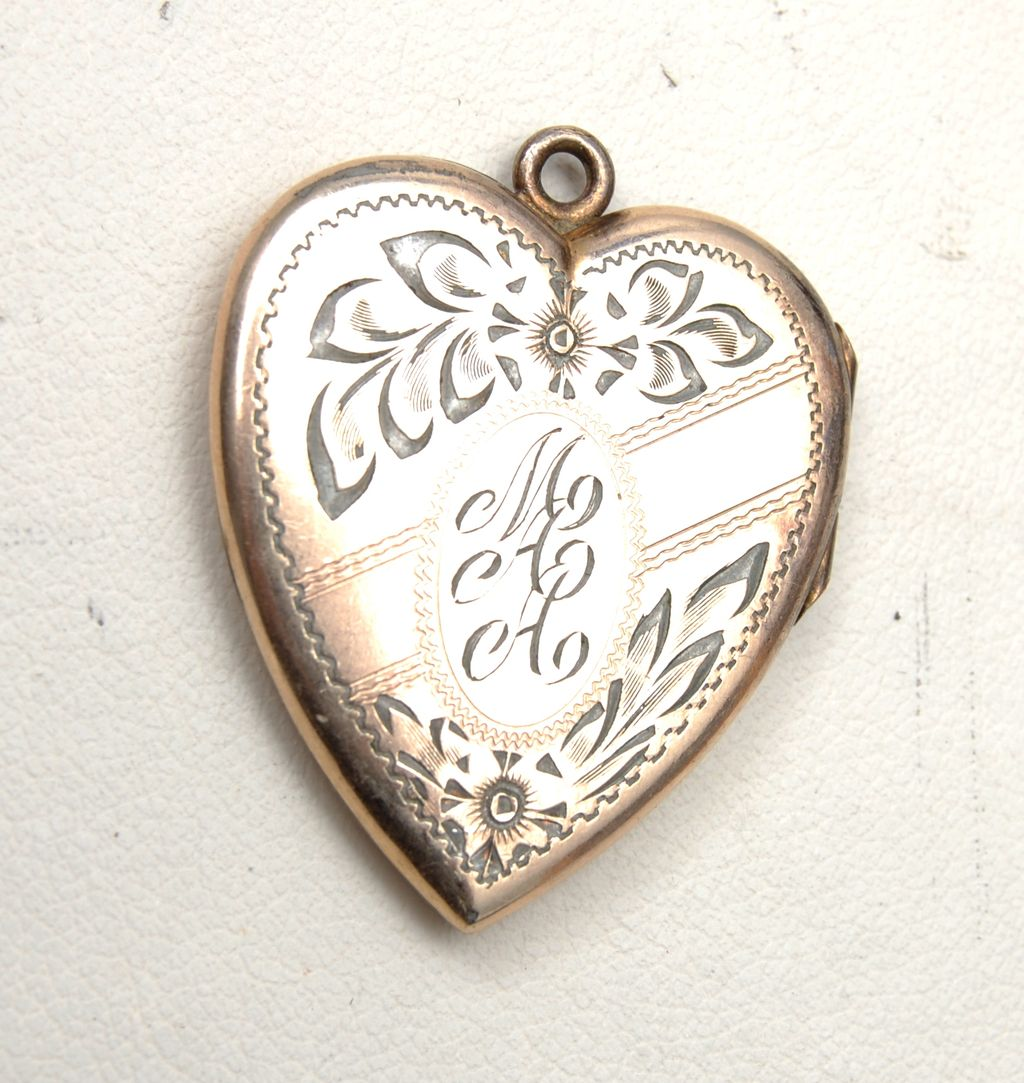 """Gold Filled Locket Etched """"MAA"""" - Great Condition"""