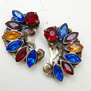 Colorful Pair of Rhinestone Dress Clips