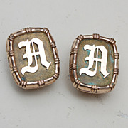 """1881 Gold Filled """"A or D"""" Cuff Links"""