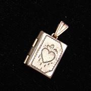 Tiny Locket With Heart Engraving