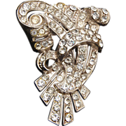 Beautiful Pot Metal Rhinestone Dress Clip