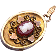 Gold Filled Cameo Locket